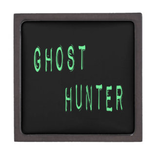 Ghost Hunter - Black Background Premium Jewelry Boxes