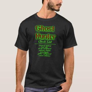 ghost hunter check list shirt