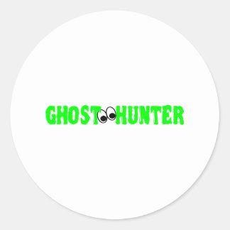 Ghost Hunter Eyes Classic Round Sticker