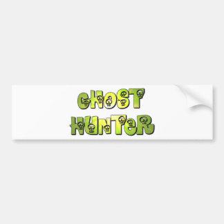 ghost hunter green skulls bumper sticker