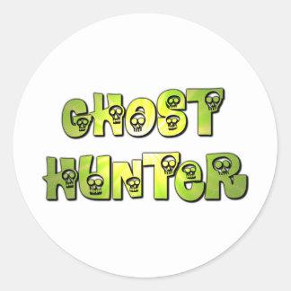 ghost hunter green skulls sticker