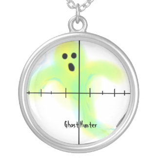 Ghost Hunter Round Pendant Necklace