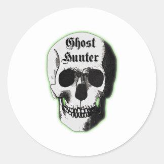 Ghost Hunter Skull Classic Round Sticker
