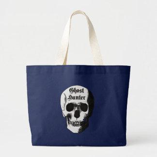 Ghost Hunter Skull Large Tote Bag