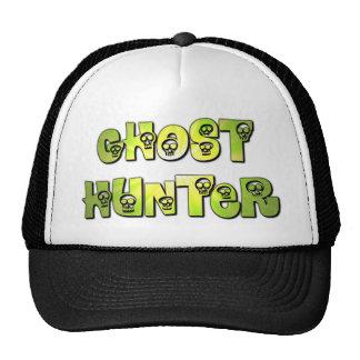 ghost hunter skulls cap in green and black trucker hat