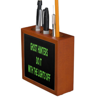 Ghost Hunters Do It  - Black Background Pencil Holder