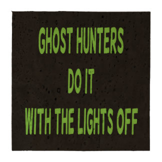 Ghost Hunters Do It  - Black Background Drink Coasters