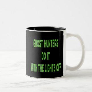 Ghost Hunters Do It  - Black Background Two-Tone Coffee Mug