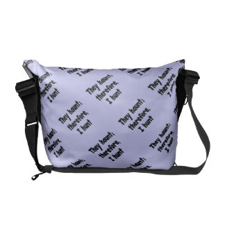 Ghost Hunter's Philosophy - Blue Background Courier Bag