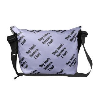 Ghost Hunter's Philosophy - Blue Background Courier Bag