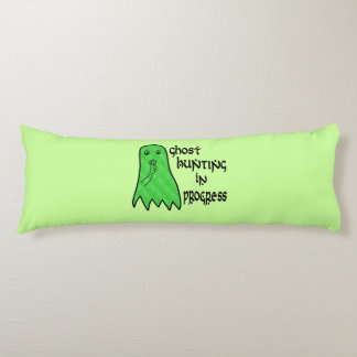Ghost Hunting In Progress - Green Background Body Pillow