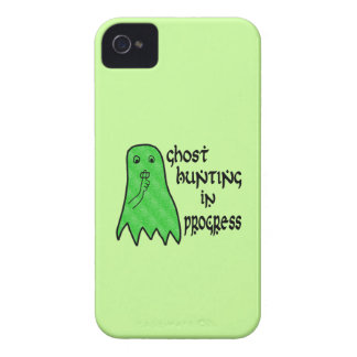 Ghost Hunting In Progress - Green Background iPhone 4 Covers