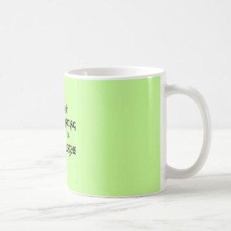 Ghost Hunting In Progress - Green Background Coffee Mug