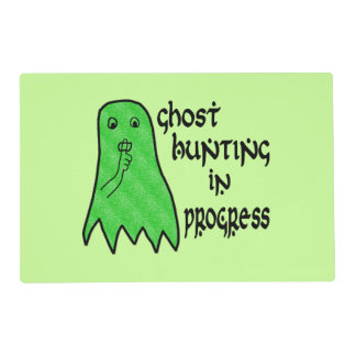 Ghost Hunting In Progress - Green Background Placemat