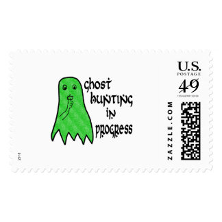 Ghost Hunting In Progress - Pick Background Color Postage