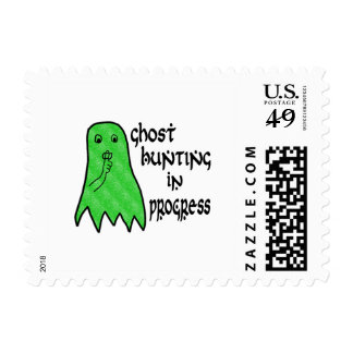 Ghost Hunting In Progress - Pick Background Color Stamps