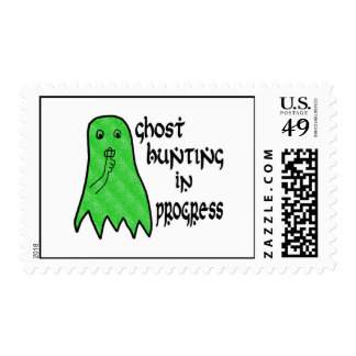 Ghost Hunting In Progress - Pick Background Color Stamp