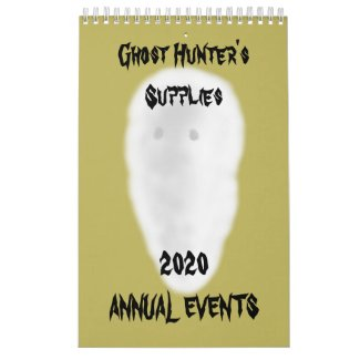 Ghost Hunting Office Supplies Calendar