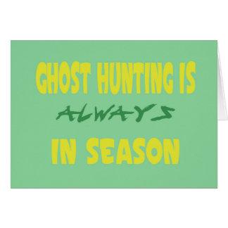 Ghost Hunting Season Greeting Cards