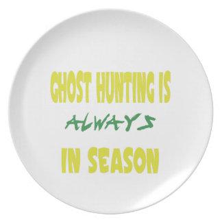 Ghost Hunting Season Melamine Plate