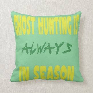 Ghost Hunting Season Pillows