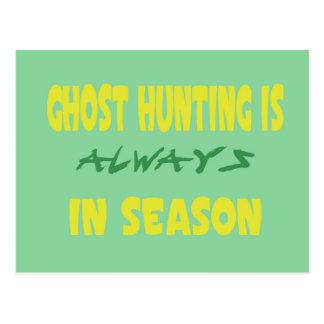 Ghost Hunting Season Postcard