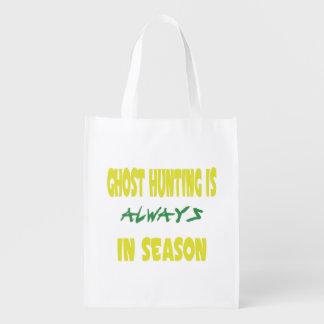 Ghost Hunting Season Reusable Grocery Bag