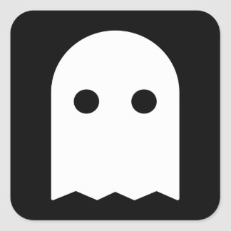 Ghost Icon Square Sticker