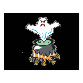 Ghost in Cauldron Post Card