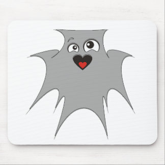 Ghost in love peace joy mouse pad