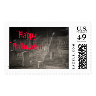 Ghost in the Graveyard Halloween Stamps