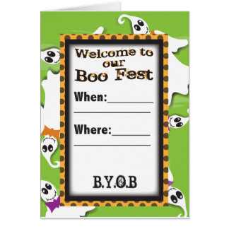 Ghost Invite Greeting Card