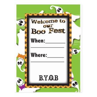Ghost Invite Postcard