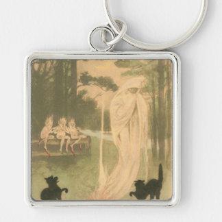 Ghost Jack O Lantern Black Cat Elves Keychain