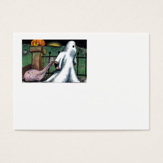 Ghost Jack O' Lantern Costume Cemetery Candy Business Card