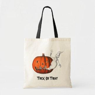Ghost Jack O Lantern Halloween Funny Tote Bag