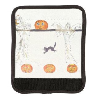 Ghost Jack O Lantern Pumpkin Black Cat Luggage Handle Wrap