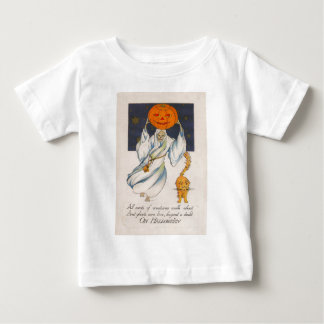 Ghost Jack O' Lantern Pumpkin Cat Costume Tee Shirts