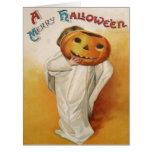 Ghost Jack O Lantern Pumpkin Child Card