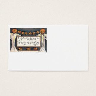Ghost Jack O Lantern Pumpkin Scarecrow Business Card