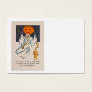 Ghost Jack O' Lantern Pumpkin Skeleton Costume Business Card