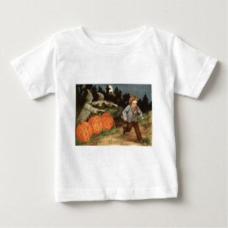 Ghost Jack O' Lantern Scared Boy Moon Tee Shirts
