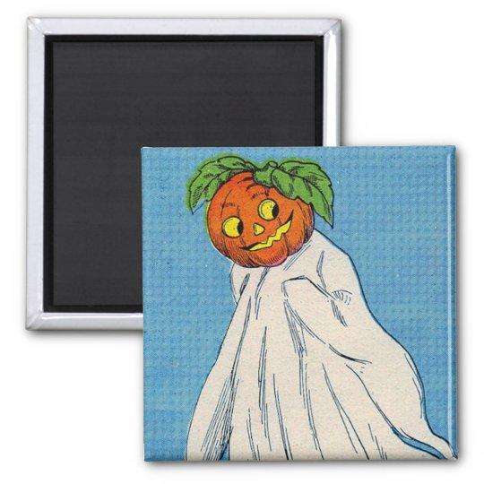 Ghost Jack O Lantern Spirit Pumpkin Magnet