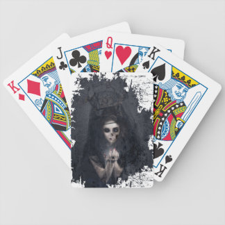 Ghost Lady Haunting Skull Skeleton Bicycle Playing Cards