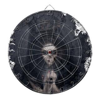 Ghost Lady Haunting Skull Skeleton Dartboard