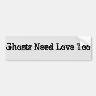 ghost love car bumper sticker