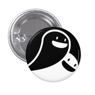 ghost love pinback button