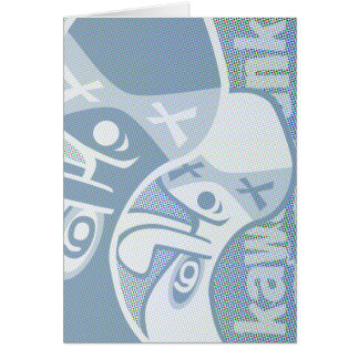 Ghost Mascot Greeting Card
