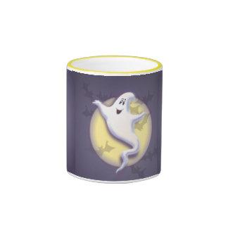 GHOST, MOON & BATS by SHARON SHARPE Ringer Mug