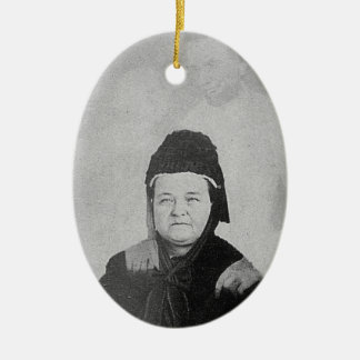Ghost of Abraham Lincoln with Mary Lincoln 1869 Christmas Tree Ornament